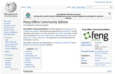 http://en.wikipedia.org/wiki/Feng_Office_Community_Edition