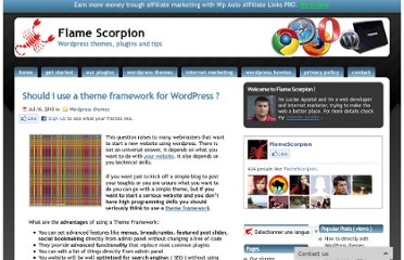 http://www.flamescorpion.com/should-i-use-a-theme-framework-for-wordpress/