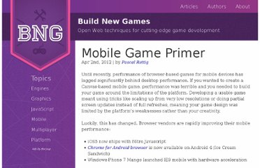 http://buildnewgames.com/mobile-game-primer