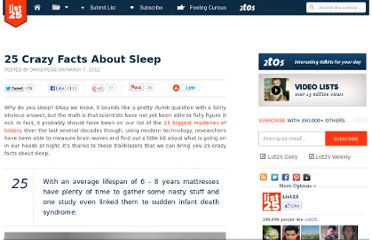 http://list25.com/25-crazy-facts-about-sleep/