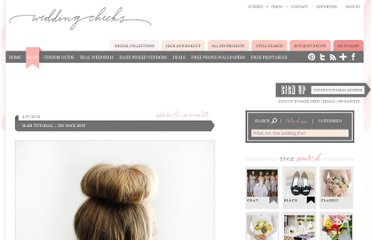 http://www.weddingchicks.com/2012/04/07/diy-sock-bun/