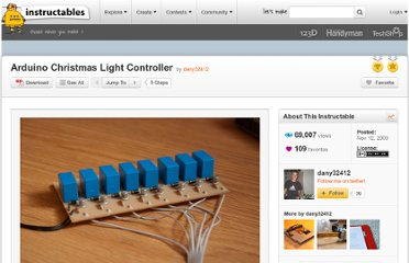 http://www.instructables.com/id/Arduino-Christmas-Light-Controller/