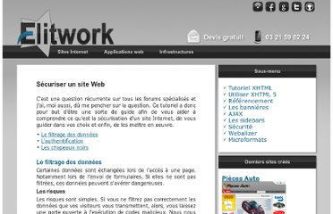 http://www.elitwork.com/securite.html#filtrage