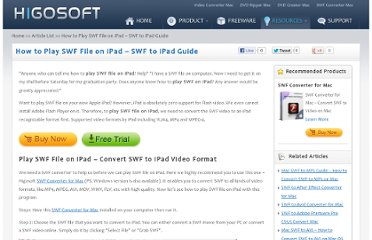 http://www.higosoft.com/play-swf/swf-on-ipad.html