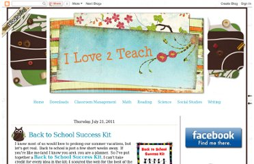 http://ilove2teach.blogspot.com/2011/07/back-to-school-success-kit.html