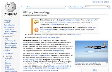 http://en.wikipedia.org/wiki/Military_technology