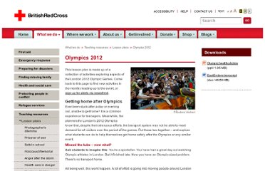 http://www.redcross.org.uk/What-we-do/Teaching-resources/Lesson-plans/Olympics-2012