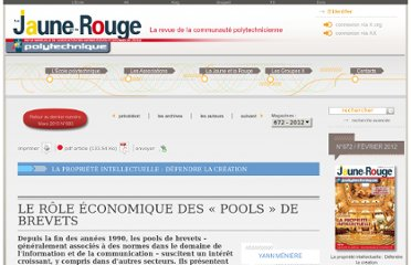 http://www.lajauneetlarouge.com/article/le-role-economique-des-%C2%AB-pools-%C2%BB-de-brevets