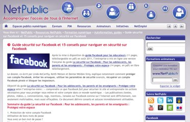 http://www.netpublic.fr/2012/04/guide-securite-facebook/