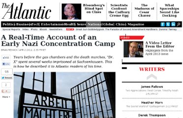 http://www.theatlantic.com/national/archive/2012/04/a-real-time-account-of-an-early-nazi-concentration-camp/255348/