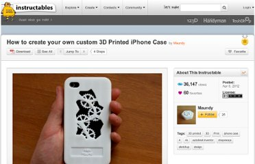 http://www.instructables.com/id/How-to-create-your-own-3D-Printed-iPhone-Case-from/