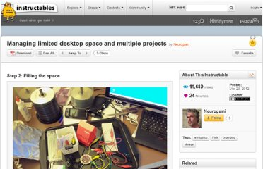http://www.instructables.com/id/Managing-limited-desktop-space-and-multiple-projec/step2/Filling-the-space/