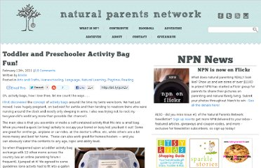 http://naturalparentsnetwork.com/activity-bag-fun/