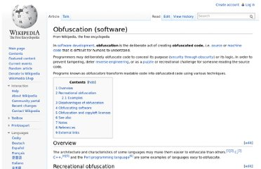 http://en.wikipedia.org/wiki/Obfuscation_(software)