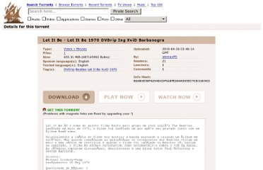 http://thepiratebay.se/torrent/5516044/Let_It_Be_-_Let_It_Be_1970_DVDrip_Ing_XviD_Barbanegra