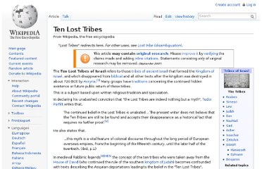 http://en.wikipedia.org/wiki/Ten_Lost_Tribes