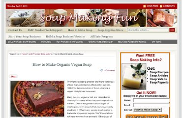http://www.soapmakingfun.com/cold-process-soap-making/how-to-make-vegan-soap.shtml