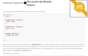http://javascriptplayground.com/blog/2012/04/javascript-module-pattern