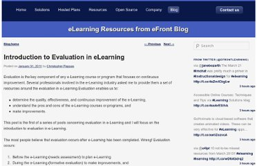 http://blog.efrontlearning.net/2011/01/introduction-to-evaluation-in-elearning.html#more
