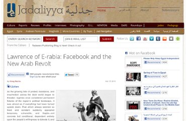 http://www.jadaliyya.com/pages/index/2884/lawrence-of-e-rabia_facebook-and-the-new-arab-revo