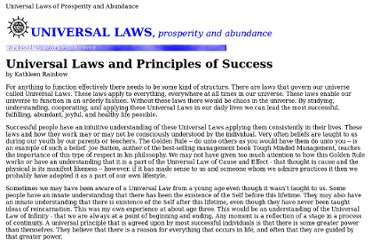 http://www.som.org/2laws/universallaws/lawssuccess.htm