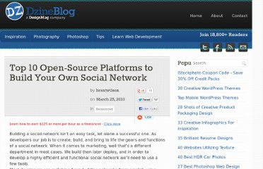 http://dzineblog.com/2010/03/top-10-open-source-platforms-that-allow-you-to-build-your-own-social-network.html