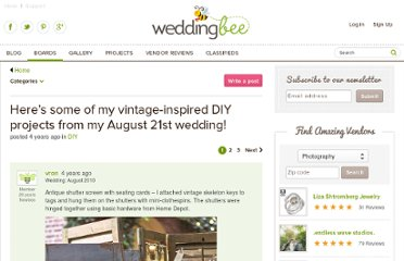 http://boards.weddingbee.com/topic/heres-some-of-my-vintage-inspired-diy-projects-from-my-august-21st-wedding