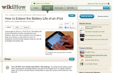 http://www.wikihow.com/Extend-the-Battery-Life-of-an-iPad