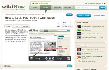 http://www.wikihow.com/Lock-iPad-Screen-Orientation