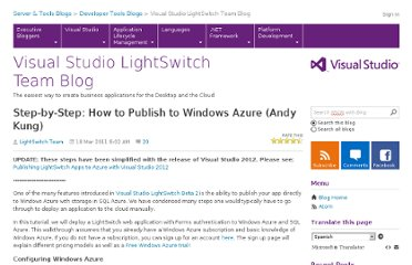 http://blogs.msdn.com/b/lightswitch/archive/2011/03/18/step-by-step-how-to-publish-to-windows-azure-andy-kung.aspx