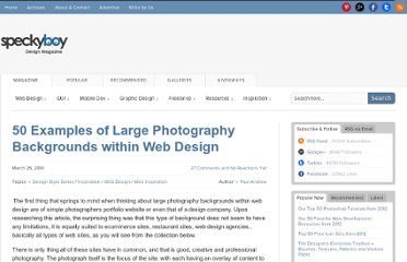 http://speckyboy.com/2010/03/25/50-examples-of-large-photography-backgrounds-within-web-design/