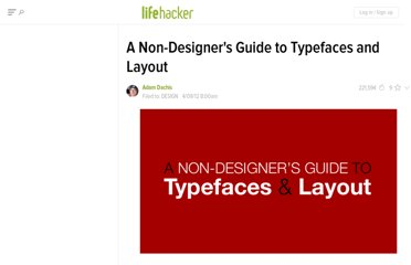 http://lifehacker.com/5899904/a-non+designers-guide-to-typefaces-and-layout