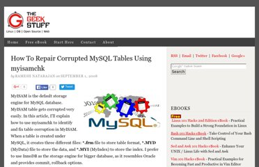 http://www.thegeekstuff.com/2008/09/how-to-repair-corrupted-mysql-tables-using-myisamchk/