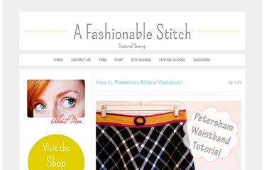 http://www.afashionablestitch.com/2011/sewing/how-to-petersham-ribbon-waistband/