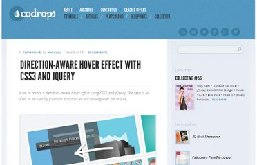 http://tympanus.net/codrops/2012/04/09/direction-aware-hover-effect-with-css3-and-jquery/