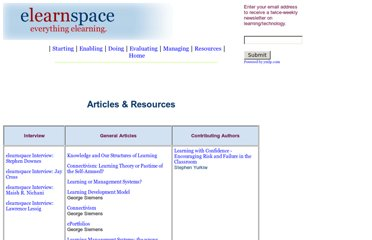 http://www.elearnspace.org/Articles/index.htm