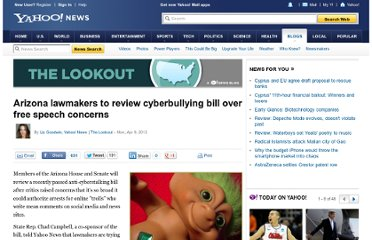 http://news.yahoo.com/blogs/lookout/arizona-lawmakers-review-cyber-bullying-bill-over-free-185026224.html