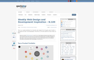 http://speckyboy.com/2011/10/08/weekly-web-design-and-development-inspiration-n-109/