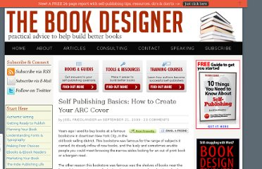 http://www.thebookdesigner.com/2009/09/self-publishing-basics-how-to-create-arc-cover/