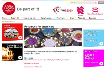 http://www.essexlegacy.org/celebrations/resources-for-organisers/#Make___Do_for_the_London_2012_Olympic_and_Paralympic_Games