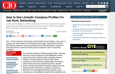 http://www.cio.com/article/480610/How_to_Use_LinkedIn_Company_Profiles_For_Job_Hunt_Networking_