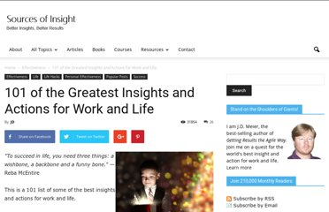 http://sourcesofinsight.com/101-of-the-greatest-insights-and-actions-for-work-and-life/