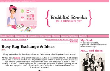 http://babblin-brooke.com/2011/11/04/busy-bag-exchange-ideas/