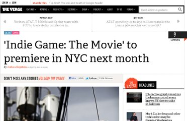 http://www.theverge.com/2012/4/9/2937085/indie-game-the-movie-premiere-nyc