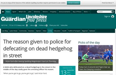 http://www.spaldingtoday.co.uk/news/crime-and-courts/the-reason-given-to-police-for-defecating-on-dead-hedgehog-in-street-1-3045067