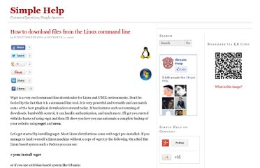 http://www.simplehelp.net/2008/12/11/how-to-download-files-from-the-linux-command-line/