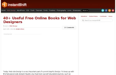 http://www.instantshift.com/2012/04/10/40-useful-free-online-books-for-web-designers/
