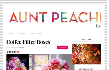 http://www.auntpeaches.com/2010/09/coffee-filter-roses.html