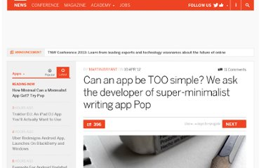 http://thenextweb.com/apps/2012/04/10/can-an-app-be-too-simple-we-ask-the-developer-of-super-minimalist-writing-app-pop/