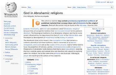 http://en.wikipedia.org/wiki/God_in_Abrahamic_religions